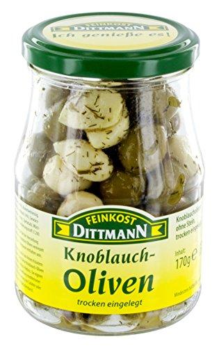 Feinkost Dittmann Knoblauch-Oliven trocken eingelegt (170 g)