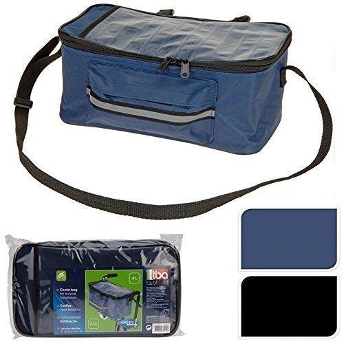 Fahrrad Lenker Tasche Isolierte Kühltasche Front Packtasche Kartenhalter - Blau -