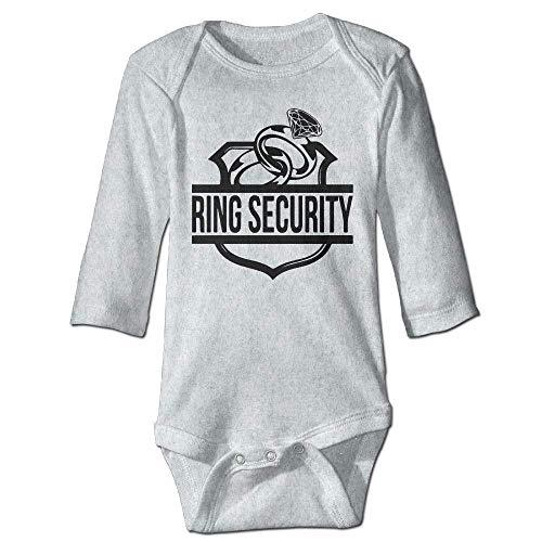 Unisex Newborn Bodysuits Ring Security Boys Babysuit Long Sleeve Jumpsuit Sunsuit Outfit Ash