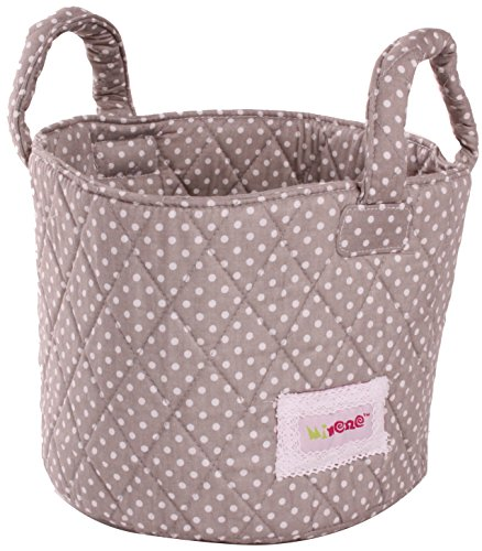 Minene Storage Basket with Dots (Grey/White, Small)