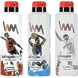 LAWMAN PG3 Striker, Freestyler, Flicker Deodorant Spray - For Men (630 Ml, Pack Of 3)