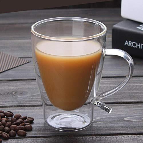 iBaste 300 ML Kaffeetasse Glas Doppelwandig Teetasse Teeglas Borosilikatglas Hitzebeständig...