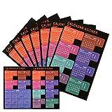 LUTER 2020 Calendrier Onglets Stickers Planificateur mensuel Adhésif Diviseur Onglet Index Autocollants pour Bullet Journal, ordinateur portable, agenda scolaire (5 ensembles, 120 onglets)
