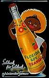 Blechschild Nostalgieschild Florida Boy Orange Orangensaft Limonade Kneipenschild
