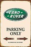 Deko7 Blechschild 30 x 20 cm - Land Rover Parking only - braun