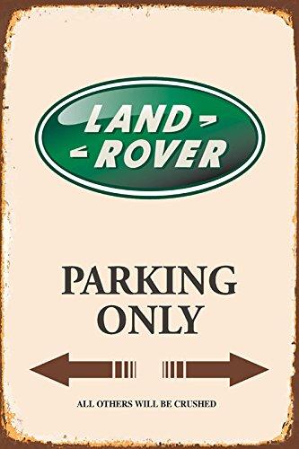 Land Rover Parking only park schild tin sign schild aus blech garage (Motiv Land)