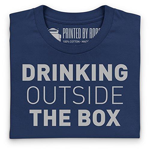 Drinking Outside The Box T-Shirt, Herren Dunkelblau
