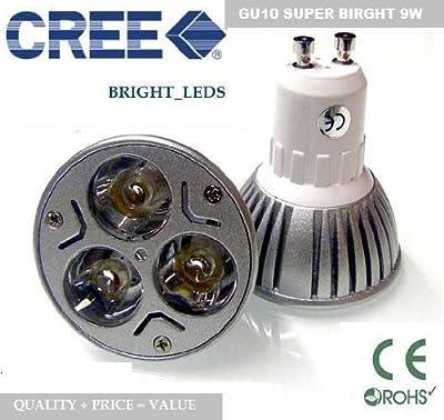 Super-helle GU10 CREE 3*3w 9W LED Glühbirne in reinweiß (6000K) ENERGIEEINSPARUNG SPOTS PERFEKT FÜR WECHSEL 50~60W Halogenlampen! von SIMAO CREE LED LIGHTING auf Lampenhans.de