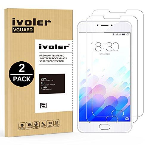 iVoler [Pack de 2] Verre Trempé pour Meizu M3 Note, Film Protection en Verre trempé écran Protecteur vitre