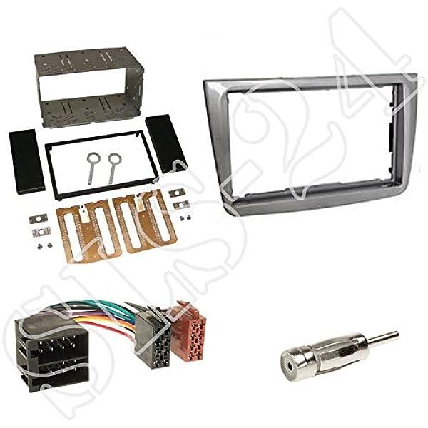 Autoradio Doppel Din 2 Din Blende Einbaurahmen Radioblende Silber Iso Radio Verlängerung Für Alfa Mito