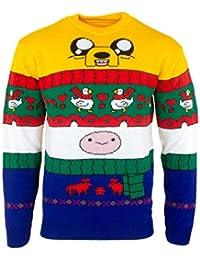 4d6b7d546a3 Adventure Time Christmas Jumper Ugly Sweater Finn   Jake for Men Women Boys  and Girls