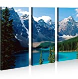 islandburner Bild Bilder auf Leinwand Kanada Berge Gletscher XXL Poster Leinwandbild Wandbild Dekoartikel Wohnzimmer Marke