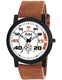 RELISH RE-S8112BT Black Slim Analog Watches For Men's And Boy's