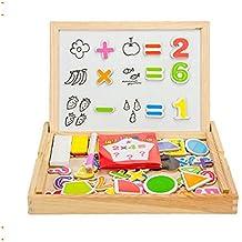 Cara Doble de Madera onecreation Writing Drawing Board Pizarra magnética de blanco y negro Puzzle Juguetes educativos para niños Para Niños Niñas over 3-year-old–Digital Forma