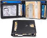 TRAVANDO Portmonaise Herren Geldbeutel Männer mit Geldklammer Bristol Brieftasche Kartenetui Slim Portemonnaie Geldtasche Wallet Geldbörse klein Münzfach RFID Kreditkartenetui Portmonee Etui Geschenk
