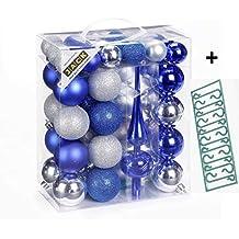 Christbaumkugeln Kunststoff Blau.Suchergebnis Auf Amazon De Für Blaue Christbaumkugeln