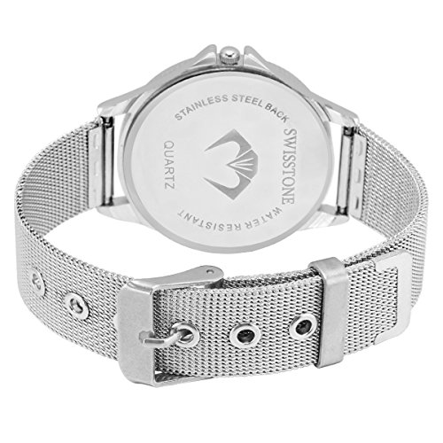 Swisstone Analogue White & Black Dial Women's & Girl's Watch Combo – Cmb501-Wht-Blk