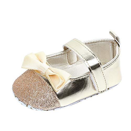 (Turnschuhe Kleinkind Schuhe Babyschuhe Mädchen Tanzschuhe Ballerinas Leder T-Strap Schuhe Lauflernschuhe Mädchen Krabbelschuhe Streifen-beiläufige Wanderschuhe LMMVP)