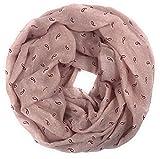 traumhaft leichter Frühlings-Loop mit Paisley-Elementen Schlauch-Schal altrose rosa