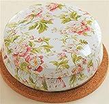 Lytshop Tee-Dosen-Behälter Retro Portable Macaron Form Aufbewahrungsbox Tinplate Box Tee Kanister (Rose Blume)