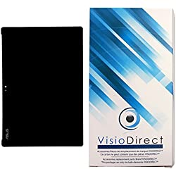 """Visiodirect® Ecran Complet pour ASUS Zenpad 10 Z301M P028 10.1"""" Tablette Noire vitre Tactile + écran LCD"""