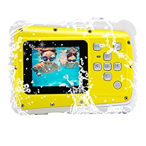 Vmotal GDC5261 Waterproof Digital Camera with 4x Digital Zoom / 8MP / 1.77 Inch TFT LCD Screen Waterproof Camera (Yellow)