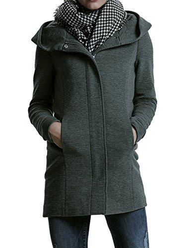 Only Damen-Woll-Mantel onlSedona Link Coat 15144772 Kurz-Mantel Übergang-Jacke, Größe:S, Farbe:Dunkelgrau (Mantel Kurz 38)