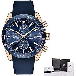 fcfd07702d64 JEAMS Relojes Relojes Marca Lujo Correa De Silicona Impermeable Deporte  Cuarzo Cronógrafo Reloj Militar Reloj De