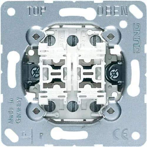 Jung Schalter & Taster Multi-Switch Doppeltaster 532-4U, Aluminium