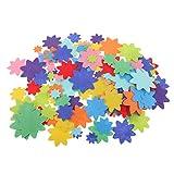 Sharplace 150 Stück Mischfarbe Filzformen Filz-Blumen Stoff Blume Handwerk Patch Applique Blütenform