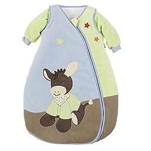 Sterntaler Saco de dormir de bebé, Mangas amovibles, Termorregulación, Con Cremallera, Tamaño: 110 cm, Emmi, Multicolor