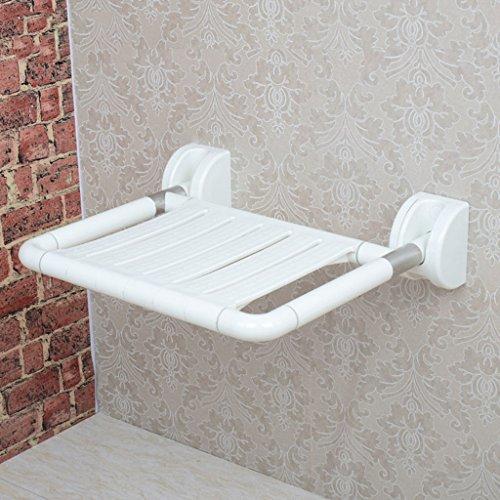 ZXLDP Salle de bain Tabourets Tabouret Pliant De Salle De Bain Chaise De Bain En Acier Inoxydable Pour Personnes Âgées Chaise De Sécurité Murale En Couleur Optionnel (Couleur : Blanc)