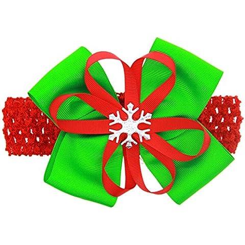 DAYAN lindo del bebé de los niños del Bowknot de Navidad Adornos partido de la manera de la venda del niño infantil de la decoración del pelo accesorios