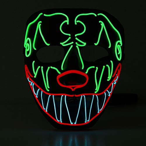 YOU LOOK UGLY TODAY Halloween Maske LED Festival Party Cosplay Clown Leuchten Maske Karneval Zubehör