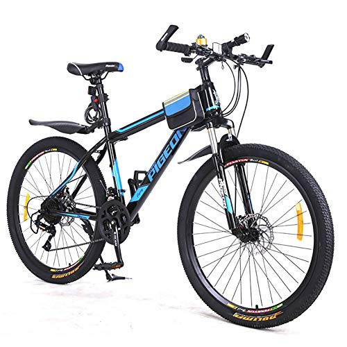 HECHEN Fahrrad Mountainbike - Doppelscheibenbremse Stoßdämpfer -21 Geschwindigkeit Speichenrad - Erwachsene 26 Zoll Fahrrad - Alufelge,B