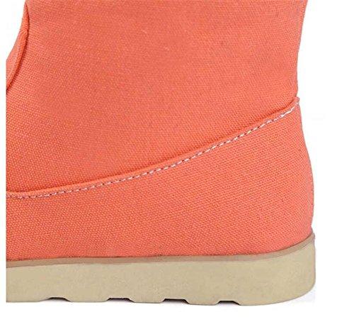 delle donne Yueer stivali invernali all'aperto al ginocchio stivali alti sopra di cotone caldo più velluto scarponi da neve orange