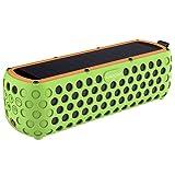 Solar Bluetooth Lautsprecher, AIRECHO 30 Stunden Spielzeit, Dual-Treiber HD Stereo, Silikonmantel,...