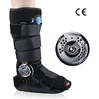 REAQER Bota para Caminar ROM Air Sac Walker Brace Estabilizador de Tobillo Desmontable para Lesiones de Tobillo y Rehabilitación de Cirugía de Fractura(M)