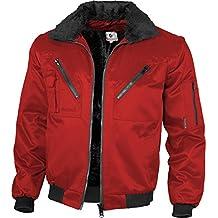 Qualitex-Chaqueta de piloto con cuello alto y mangas presión, varios colores rojo XXXL