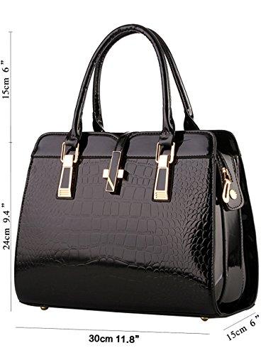 Menschwear Damen Handtasche Marken Handtaschen Elegant Taschen Shopper Reissverschluss Frauen Handtaschen Rot-wien Schwarz