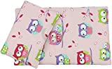 "Dolls Teddy Quilt /Duvet Pillow Bedding Set Fits Up to 46cm 18"" Doll Pram /Cot (pink owl)"