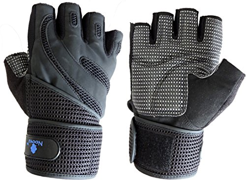 Noova Weight Lifting Gym Gloves for Men and Women with Wrist Support Wraps, Full Palm Protection Great For Pull Ups, Cross Training, Fitness, WODs & Weightlifting Quality Sports Accessories