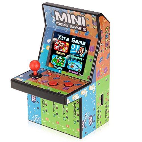 80er Retro Mini Arcade Spielautomat mit 2.8″ LCD Farb Display, eingebautem Lautsprecher und 108 Videospiele - 4
