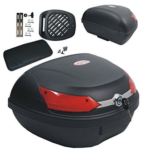 Top Case Moto Bagage Coffer Valise avec Dossier 46 lt.Quad...