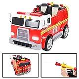 Actionbikes Motors Kinder Elektroauto Feuerwehrauto Feuerwehr Elektrofahrzeug Kinderauto 2 Sitzer Ferngesteuert Elektro