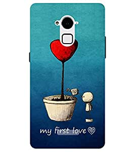 Chiraiyaa Designer Printed Premium Back Cover Case for Coolpad Note 3 Plus (heart cartoon love) (Multicolor)