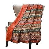 Alicemall Quit Tagesdecke Bettüberwurf Quilt für Bett Sofa Patchwork Gesteppt Steppdecke 230 x 250 cm