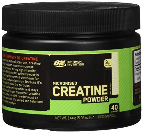 Optimum Nutrition Micronised Creatine Monohydrate- Kreatin-Monohydrat Pulver (hergestellt für Muskelaufbau von ON) Unflavoured, 40 Portionen, 144g
