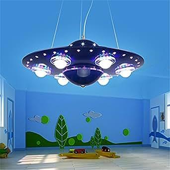 malovecf deckenleuchte dimmbar mit fernbedienung ufo bunter kronleuchter deckenleuchte. Black Bedroom Furniture Sets. Home Design Ideas