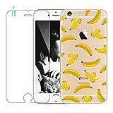 Coque iPhone 7 Plus avec Verre Trempé, Bestsky Transparente Cute Motif Colorés...